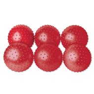 Spikey Inflatable Vinyl Red Play Balls (Set of 6)