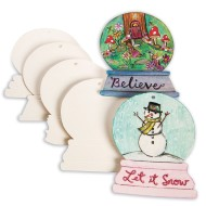 Color-Me™ Snow Globe Ornaments (Pack of 48)
