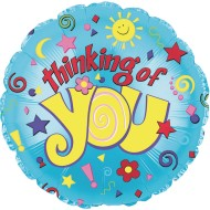 "Thinking of You Mylar Balloons, 17"" Round (Pack of 10)"