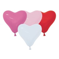 Latex Heart Shaped Balloon Assortment, 16