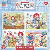 MasterPieces® Raggedy Ann & Andy 4-Puzzle Multipack