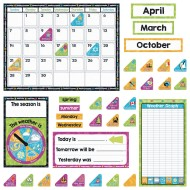 Color Harmony™ Calendar Bulletin Board Decoration Set