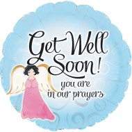 "Get Well Soon Balloons, ""You are in our prayers"", 17"" Round (Pack of 10)"