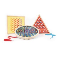 Guidecraft® Jumbo Geo Lacing Set