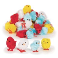 Pom Pom Chicks (Pack of 48)