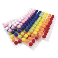 Peel & Stick Pom Poms (Pack of 240)