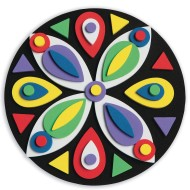Foam Mosaic Mandalas Craft Kit (Pack of 12)