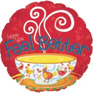 "Hope You Feel Better Balloons, 17"" Round (Pack of 10)"