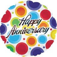 "Happy Anniversary Mylar Balloons, 17"" Round (Pack of 10)"