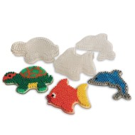 Fuse Bead Pegboard, Sea Critters (Pack of 24)