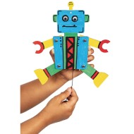Robot Pull Toys Craft Kit (Pack of 12)
