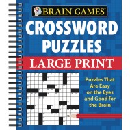 Brain Games™ Large Print Crosswords, Blue Cover