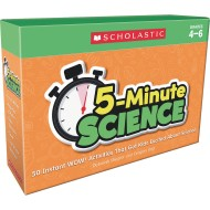 5 Minute Science Cards, Grades 4-6
