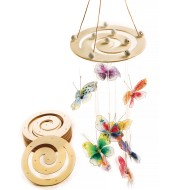 Round Wooden Spiral Mobile Hanger (Pack of 24)