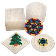 Fuse Bead Pegboard, Round & Square (Pack of 24)