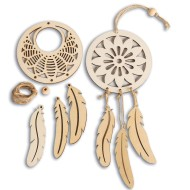 S&S® Wood Mandala Dreamcatcher Kit (Pack of 12)