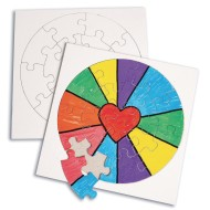 Color-Me™ Round Puzzles (Pack of 24)