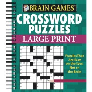 Brain Games™ Large Print Crosswords, Green Cover