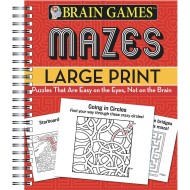 Brain Games™ Large Print Mazes Book