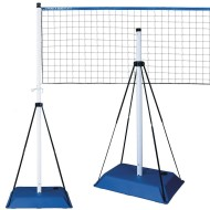 Park & Sun Blue Base 8' High, Volleyball Net Set