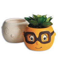 Color-Me™ Ceramic Bisque Flowerpot Buddy (Pack of 12)