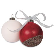 Color-Me™ Ceramic Bisque Ball Ornament (Pack of 12)