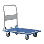 Heavy Duty Steel Platform Cart with Folding Handle