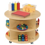 Wood Designs® Mobile Circular Storage Unit