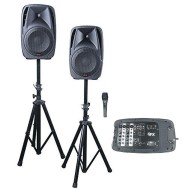 All-In-One Duel DJ Mixer & PA System with Microphone