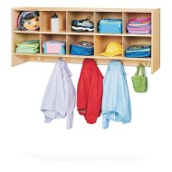 Jonti-Craft® Young Time™ 10-Section Wall Mount Coat Locker