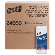 Genuine Joe® 2-Ply Household Roll Paper Towels (Pack of 30)