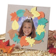 Falling Leaves Frame Craft Kit (Pack of 24)