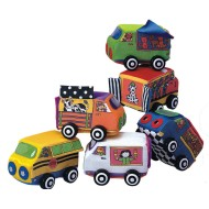 Vroom Vroom Soft Vehicles Set with Rolling Wheels (Set of 6)
