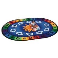 Sunny Day Learn & Play Oval Carpet