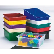 Plastic Storage Tubs, Teal