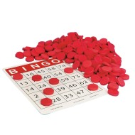 Quiet Bingo Chips, Red (Pack of 250)