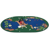 The Pond Oval Carpet, 5'10 x 8'4