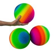 "Vinyl Rainbow Balls, 8-1/2"" (Pack of 3)"
