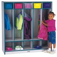 Jonti-Craft® 5-Section Locker with Step