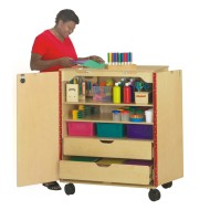 Jonti-Craft® Art Cart with Storage