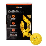 Onix™ Fuse Outdoor Pickleballs, Yellow (Pack of 6)