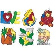 Large Assorted Sun Catcher Frames (Set of 12)