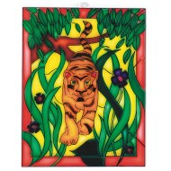 Tiger Nature Scene Stain-A-Frame Set (Pack of 12)