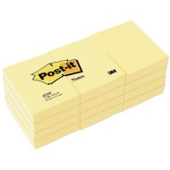 Post-it® Mini Notes, Canary Yellow, 1.5