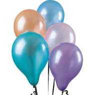Pearltone Balloons, Assorted Pastel Colors, 11