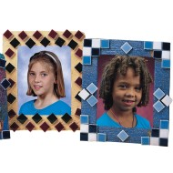 EduCraft® Mosaic Tile Picture Frames Craft Kit (Pack of 12)