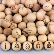 Wooden Bingo Balls (Pack of 75)