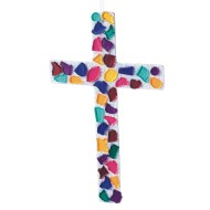 Sparkling Tile Cross Craft Kit (Pack of 24)