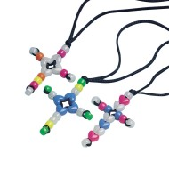 Beaded Cross Necklace Craft Kit (Pack of 12)