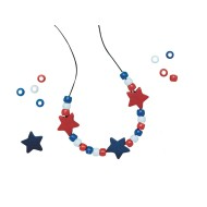Patriotic Necklace Craft Kit (Pack of 12)
